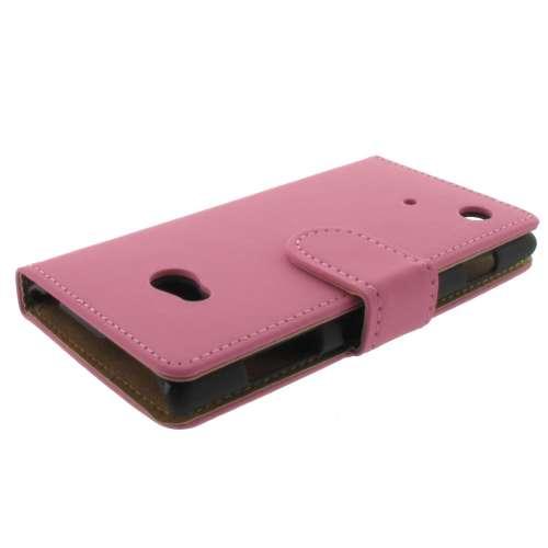 Premium Bookstyle Hoesje Nokia Lumia 720 Mat Roze