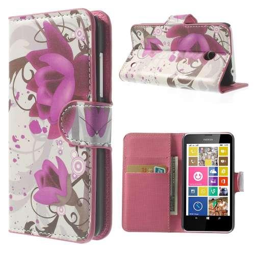 Bookstyle Stand Case Nokia Lumia 630 Lotus