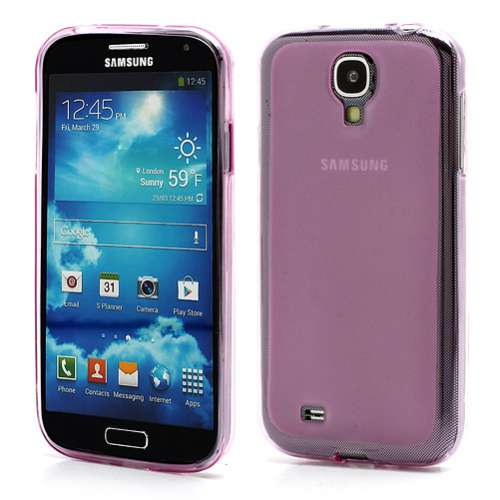 Frosted Back TPU Case Samsung Galaxy S4 i9500 Purple