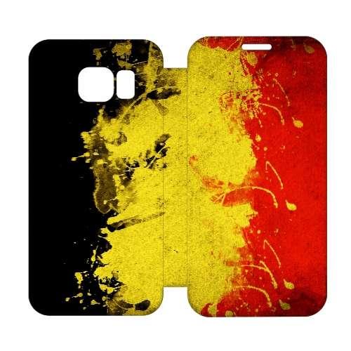 Hip Design Hoesje Belgische Vlag Samsung Galaxy S6 Edge