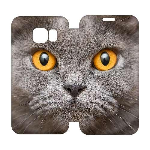 Hip Design Hoesje Britse Kat Samsung Galaxy S6 Edge