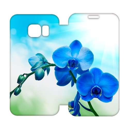 Hip Design Hoesje Orchidee Blauw Samsung Galaxy S6 Edge