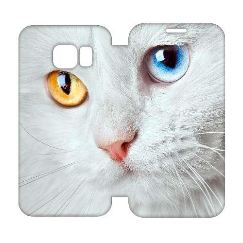 Hip Design Hoesje Witte Kat Samsung Galaxy S6 Edge
