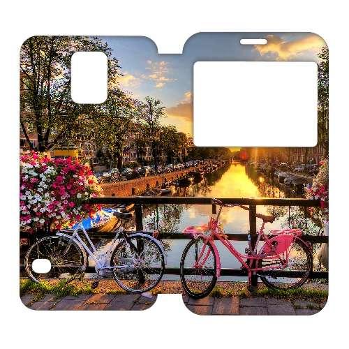 Hoesje Amsterdamse Grachten met Venster Samsung Galaxy S5 B2Ctelecom