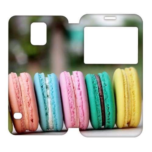 B2Ctelecom Hoesje Macarons met Venster Samsung Galaxy S5