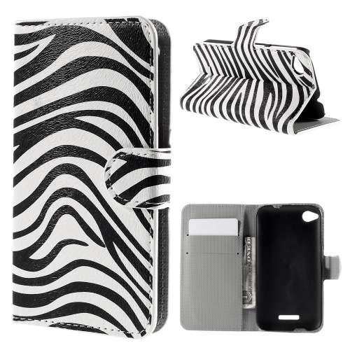 HTC Desire 320 Hoesje Zebra met Opbergvakjes B2Ctelecom