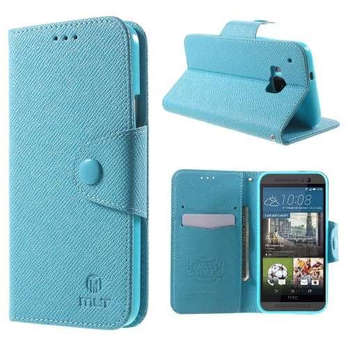 HTC One M9 Hoesje Blauw met Opbergvakjes