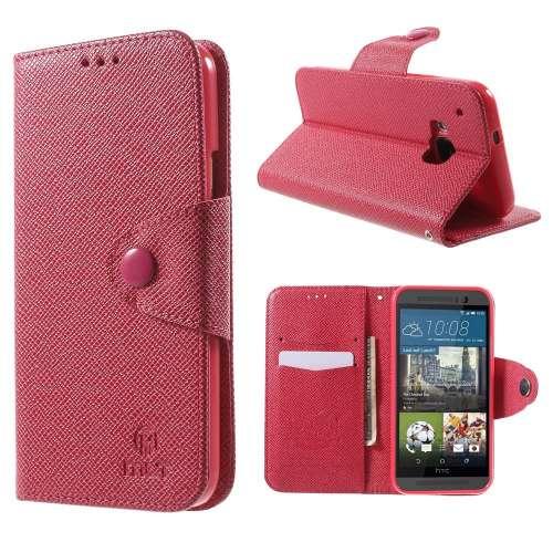 HTC One M9 Hoesje Roze met Opbergvakjes