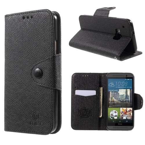 HTC One M9 Hoesje Zwart met Opbergvakjes
