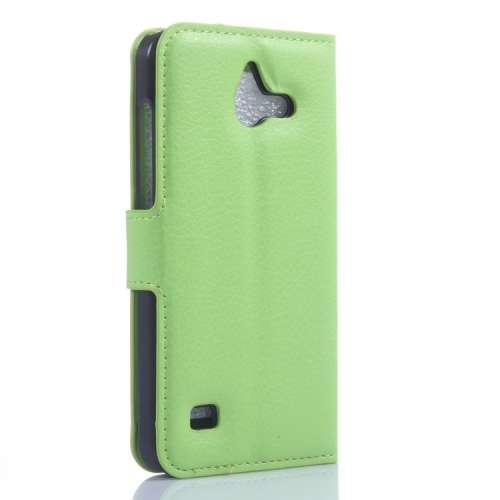 Huawei Ascend Y550 Hoesje Groen (Wallet Stand Case)