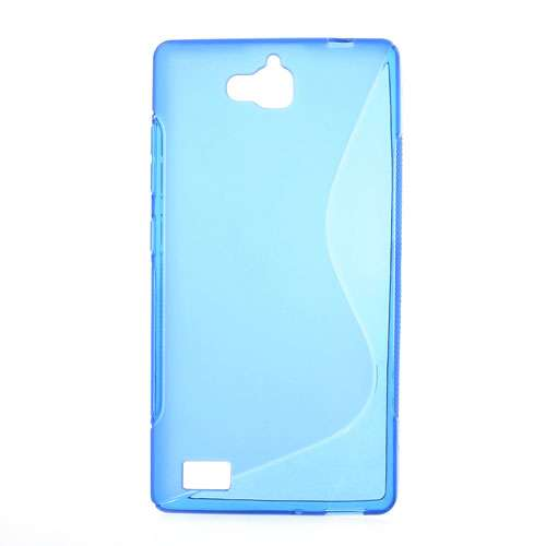 Huawei Honor 3C Hoesje Blauw TPU (rubber)