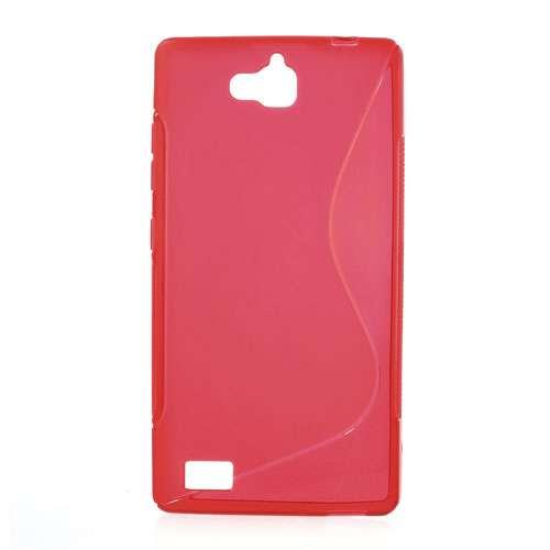 Huawei Honor 3C Hoesje Rood TPU (rubber)