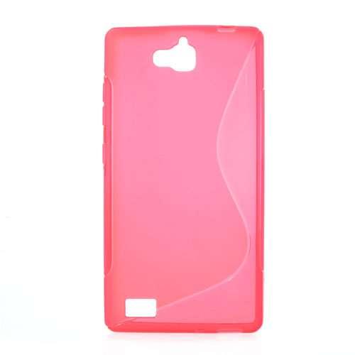 Huawei Honor 3C Hoesje Roze TPU (rubber)