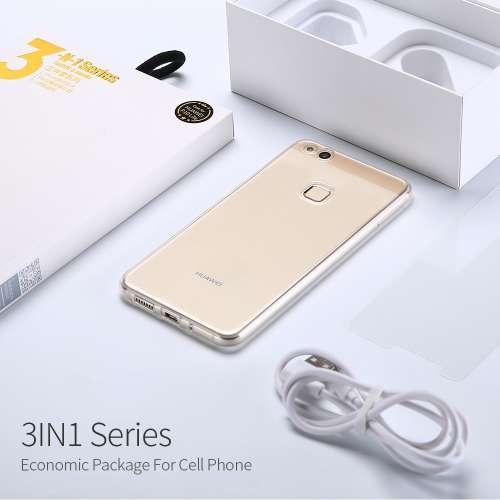 Huawei P10 Hoesje, Screen Protector en Oplader
