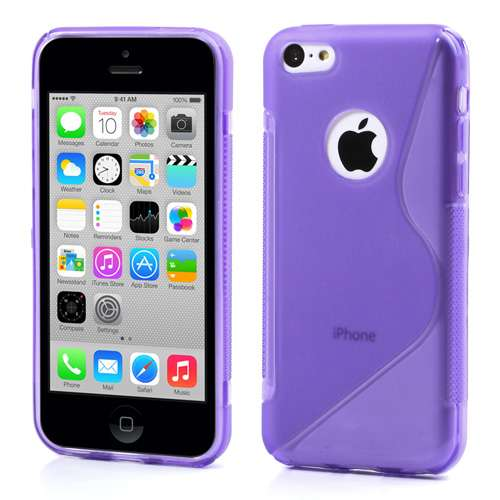 iPhone 5C Hoesje Paars TPU (rubber)