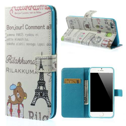 Apple iPhone 6 Plus Stand Case Hoesje Rilakkuma & Eiffeltoren