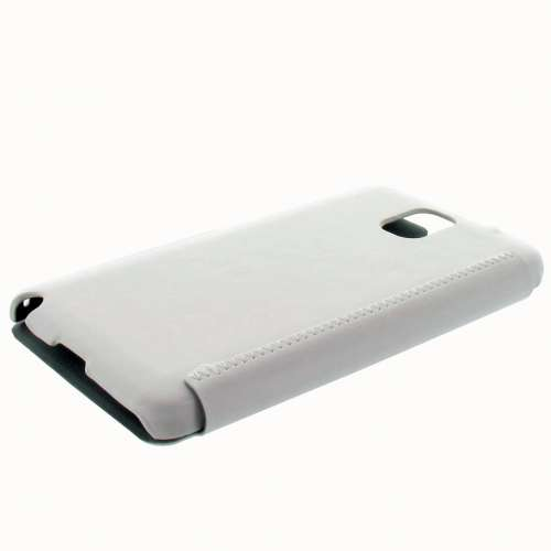KLD Leather Bookstyle Stand Case Samsung Galaxy Note 3 White