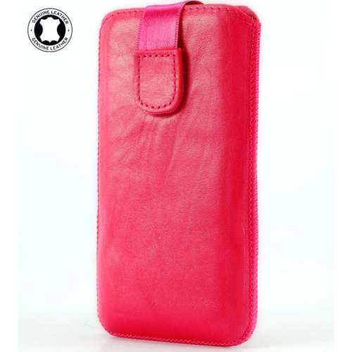 Leather Case Wolfgang AT-AS43D Dual Sim Washed Pink