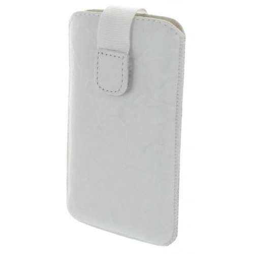 Leather Case Wolfgang AT-AS43D Dual Sim Washed White