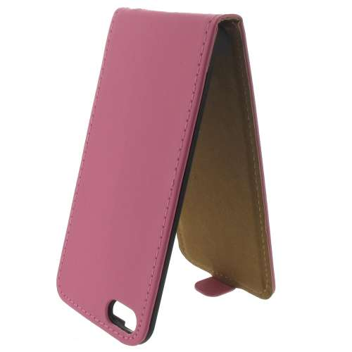 Leather Flip Case Apple iPhone 5 | 5S Mat Roze