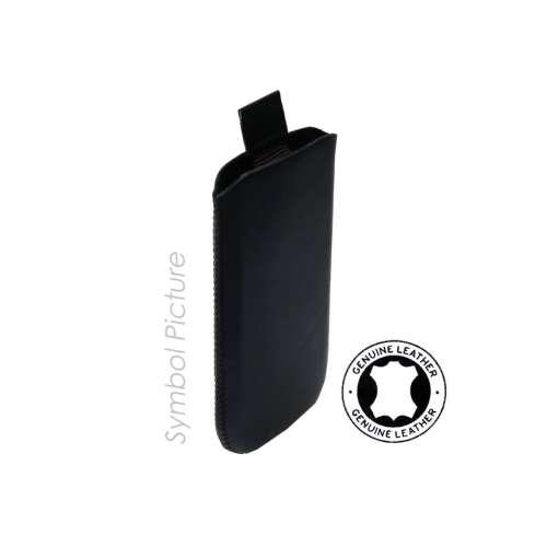 Lederen Hoesje HTC Incredible S Met Strap Zwart