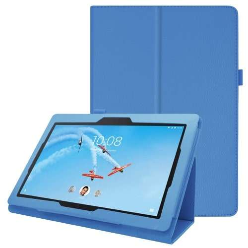 Lenovo Tab E10 Hoes Bookcase Lichtblauw met Standaard
