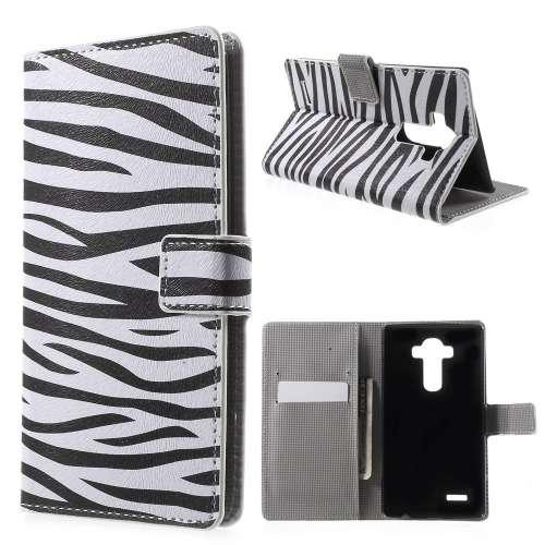 LG G4 Hoesje Zebra (met opbergvakjes)