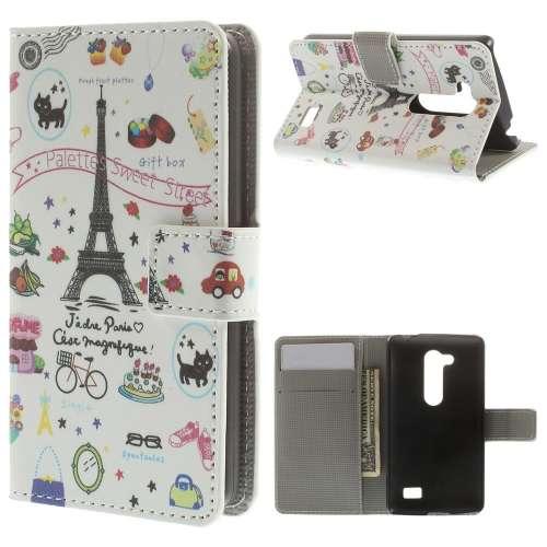 B2Ctelecom LG L Fino Wallet Case Eiffeltoren