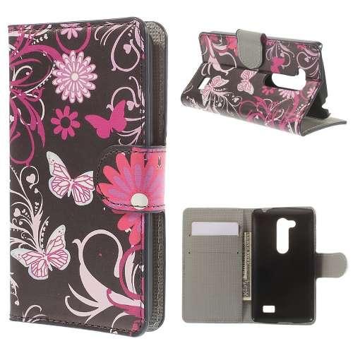 B2Ctelecom LG L Fino Wallet Case Vlinders