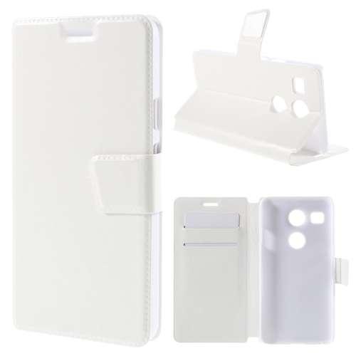 LG Nexus 5X Hoesje Wit met Flexibele Houder!