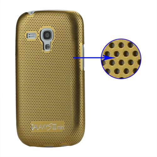 B2Ctelecom Metal Hard Case Galaxy S3 Mini i8190 of i8200 Goud