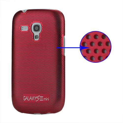 Metal Hard Case Galaxy S3 Mini i8190 of i8200 Rood