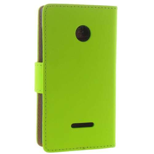 Microsoft Lumia 435 Boekhoesje Groen met Opbergvakjes