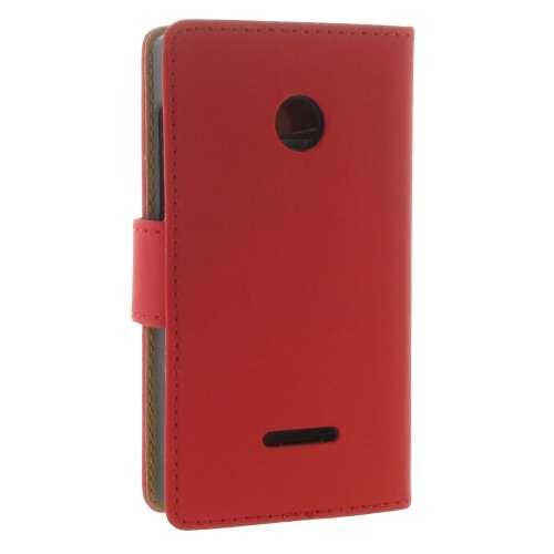 Microsoft Lumia 435 Boekhoesje Rood met Opbergvakjes