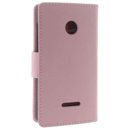 Microsoft Lumia 435 Boekhoesje Roze met Opbergvakjes