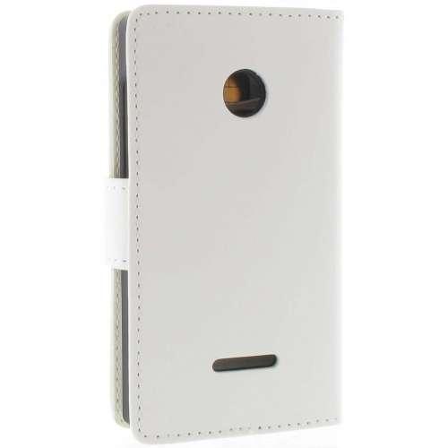 Microsoft Lumia 435 Boekhoesje Wit met Opbergvakjes