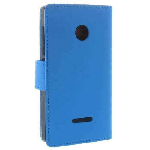 Microsoft Lumia 532 Boekhoesje Blauw met Opbergvakjes