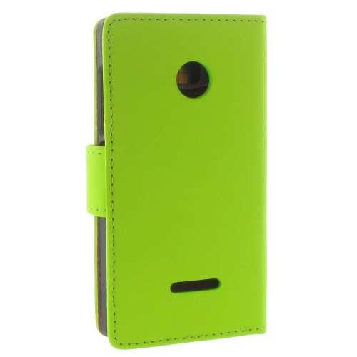 Microsoft Lumia 532 Boekhoesje Groen met Opbergvakjes