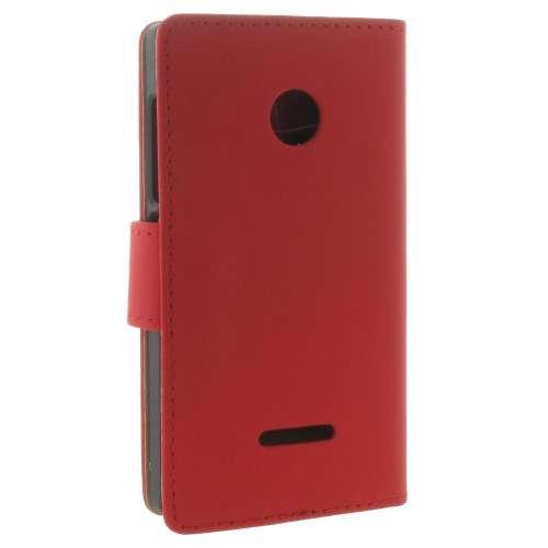 Microsoft Lumia 532 Boekhoesje Rood met Opbergvakjes