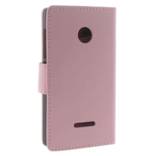 Microsoft Lumia 532 Boekhoesje Roze met Opbergvakjes