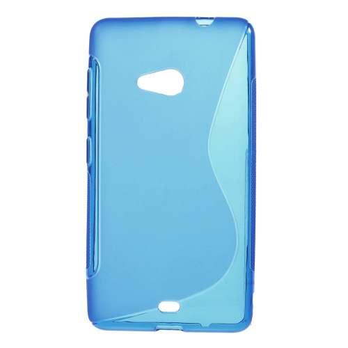 Microsoft Lumia 535 Hoesje Blauw TPU (rubber)