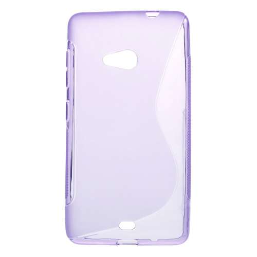 Microsoft Lumia 535 Hoesje Paars TPU (rubber)