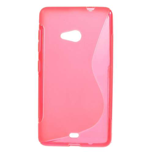 Microsoft Lumia 535 Hoesje Roze TPU (rubber)