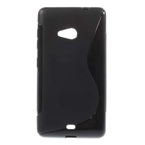 Microsoft Lumia 535 Hoesje Zwart TPU (rubber)