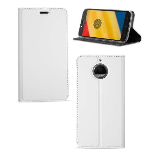 Motorola Moto G5S Plus Hoesje Wit met Standaardfunctie