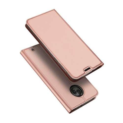 Ros� Gouden Slim TPU Booklet voor de Motorola Moto G6 Plus