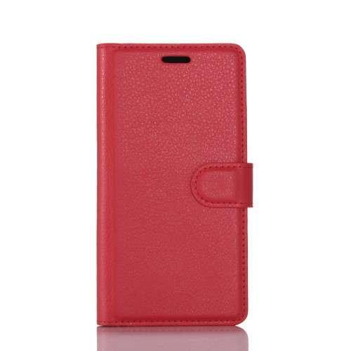 Nokia 6 Hoesje Rood met opbergvakjes