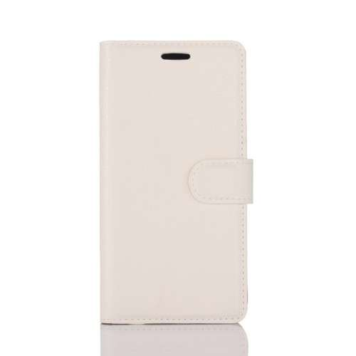 Nokia 6 Hoesje Wit met opbergvakjes