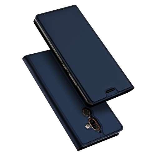Blauwe Slim TPU Booklet voor de Nokia 7 Plus