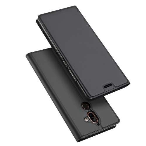 Grijze Slim TPU Booklet voor de Nokia 7 Plus